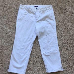 NYDJ White crop pants